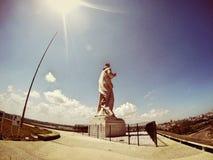 耶稣雕象,哈瓦那旧城古巴 库存照片