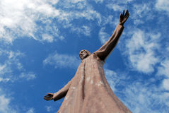 耶稣雕象  免版税库存照片
