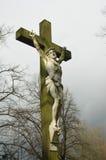 耶稣雕象 图库摄影