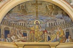 耶稣马赛克罗马教师 库存图片