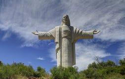 耶稣,科恰班巴,玻利维亚雕象  库存图片