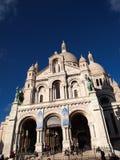 耶稣,巴黎的耶稣圣心的大教堂 免版税库存照片
