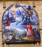 耶稣绘加列戈老萨拉曼卡大教堂西班牙的玛丽 免版税库存图片