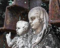 耶稣・玛丽雕象 库存照片