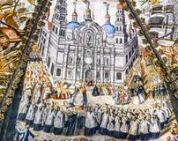 耶稣Atotonilco墨西哥塞维利亚西班牙壁画圣所  库存图片