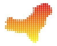 耶罗岛地图  免版税图库摄影