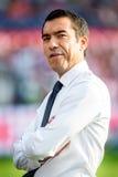 费耶诺德队教练员教练乔瓦尼・范布隆克霍斯特 免版税库存照片