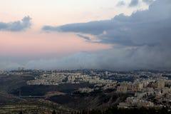 耶路撒冷云彩 免版税库存照片