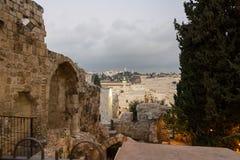 耶路撒冷光明节西部墙壁隧道游览 免版税库存图片