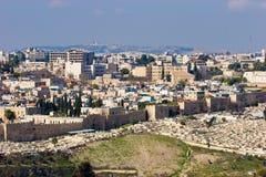 耶路撒冷全景 免版税图库摄影