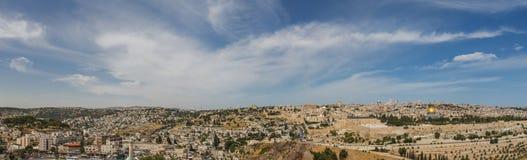 耶路撒冷全景 免版税库存图片