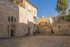 耶路撒冷古城的老街道和房子 图库摄影