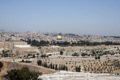 耶路撒冷和岩石的圆顶 库存照片