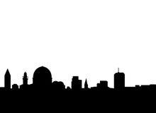 耶路撒冷地平线向量 库存例证