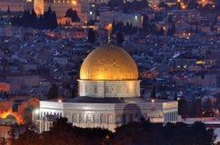 耶路撒冷地平线 库存照片