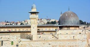耶路撒冷墙壁和阿克萨清真寺, 图库摄影