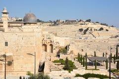 耶路撒冷墙壁和阿克萨清真寺, 库存照片