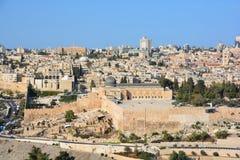 耶路撒冷墙壁和阿克萨清真寺 免版税库存照片