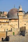 耶路撒冷墙壁和阿克萨清真寺 库存图片