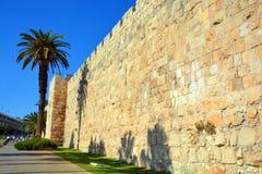耶路撒冷墙壁和阿克萨清真寺 免版税库存图片