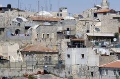 耶路撒冷屋顶视图 库存照片