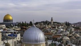 耶路撒冷屋顶 免版税图库摄影
