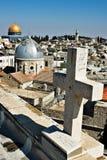 耶路撒冷屋顶 库存照片