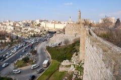 耶路撒冷市墙壁 免版税库存图片