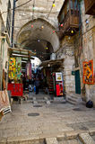 耶路撒冷市市场胡同 免版税库存图片