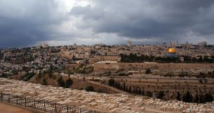 耶路撒冷挂接全景寺庙 库存照片