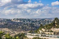耶路撒冷新的住宅区新的全景 免版税库存图片