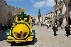 耶路撒冷旧城火车在耶路撒冷以色列 图库摄影
