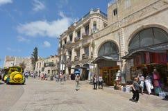 耶路撒冷旧城火车在耶路撒冷以色列 库存照片