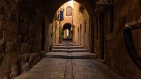 耶路撒冷旧城的地平线西墙壁和圣殿山的在耶路撒冷,以色列 库存照片