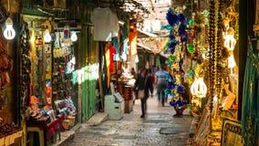 耶路撒冷旧城的地平线西墙壁和圣殿山的在耶路撒冷,以色列 图库摄影