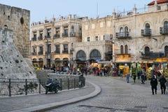 耶路撒冷旧城里面雅法门 免版税库存图片