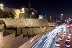 耶路撒冷晚上 库存图片