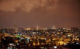 耶路撒冷桥梁在晚上 图库摄影