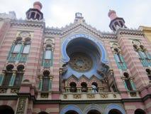 耶路撒冷犹太教堂,布拉格,捷克 免版税库存照片