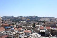 耶路撒冷的全景耶路撒冷旧城东部- 库存图片