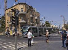 耶路撒冷的街场面 库存照片