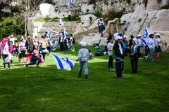 耶路撒冷的颜色在以色列 库存照片