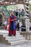 耶路撒冷的骑士每年节日的成员弹风笛的  图库摄影