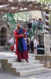 耶路撒冷的骑士每年节日的成员弹风笛的  免版税库存图片