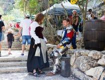 耶路撒冷的骑士每年节日的成员,互相谈话 免版税库存图片