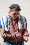 耶路撒冷祈祷的哭墙 免版税库存图片