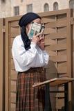 耶路撒冷祷告哭墙 免版税图库摄影
