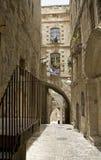 耶路撒冷缩小的街道 库存照片