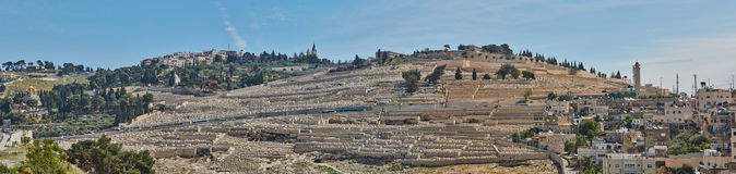 耶路撒冷老市全景  库存图片