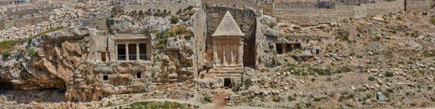 耶路撒冷老市全景  免版税库存照片